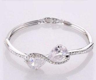 cute silver top bracelets infinity