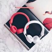 earphones,headphones,wireless,urbanears,pink,white,music