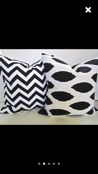 home accessory black white pillow chevron