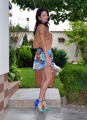 my silk fairytale,jacket,t-shirt,skirt,shoes,bag,jewels