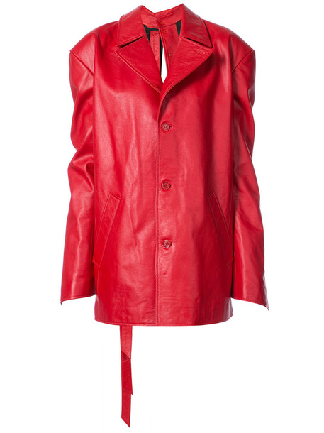 Y / Project coat back women draped red