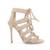 Beige Suede Strappy Sandals