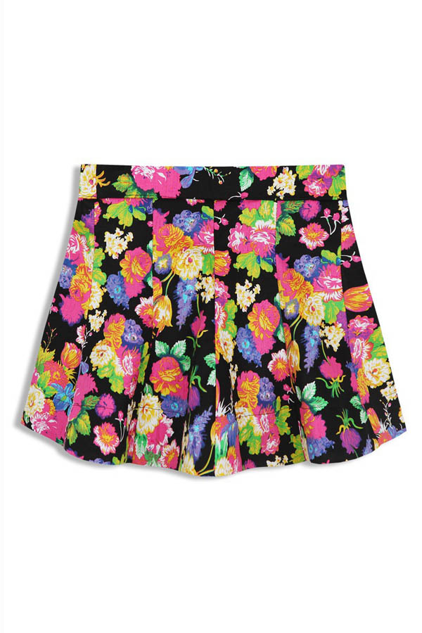 Vintage Floral Print Mini Skirt [FMCC0278] - PersunMall.com