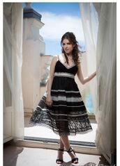 dress,sandals,midi dress,cannes,anna kendrick,lace dress,shoes