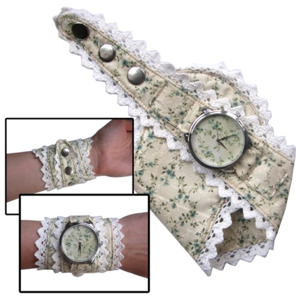 jewels watch watch flowers pattern white sand sand white ziziztime ziz watch