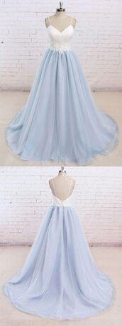 dress,prom gown,light blue,prom dress,light blue dress,long dress,pastel,gown