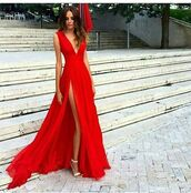 dress,red homecoming dresses,sleeveless homecoming dresses,split front homecoming dresses,court homecoming dresses,deep v neck homecoming dresses,split homecoming dresses