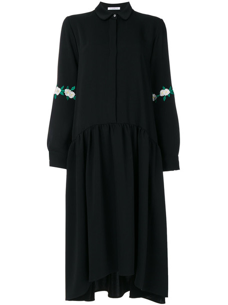 VIVETTA dress shirt dress embroidered women black