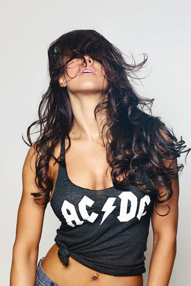 black tank top sexy rock band ac dc