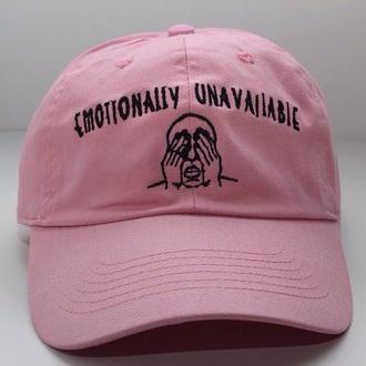 hat pink cap logo