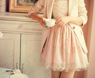 dress lace dress beautiful pastel tumblr pink dress pink cute