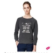 sweater,grey sweater,cotton,printed sweater,funny sweater,top