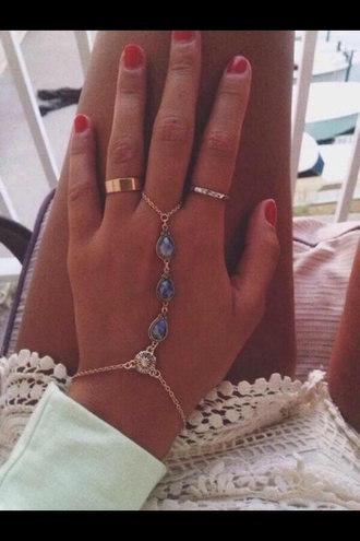 jewels ring bracelets accessories fashion gold sunflower