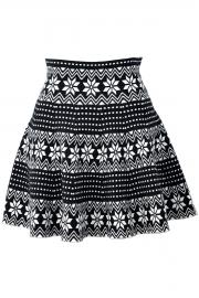 Floral Geo Pattern Skirt - OASAP.com