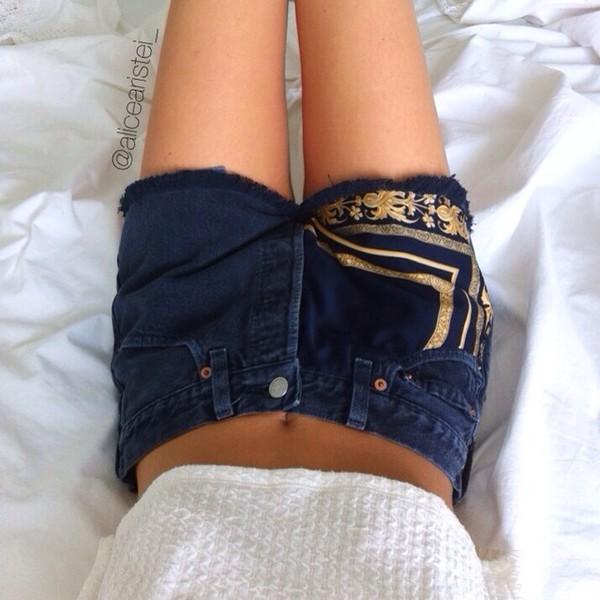 shorts denim shorts denim levi's shorts vintage High waisted shorts studs jeans