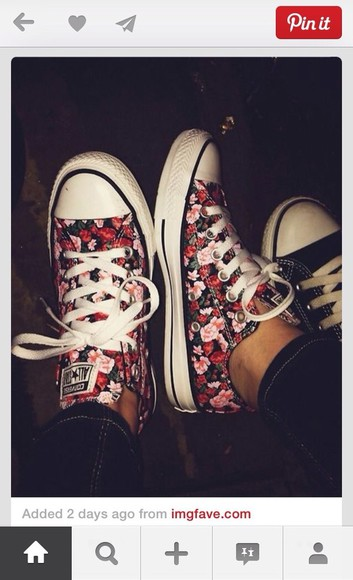 shoes cute floral converse floral converse cute shoes