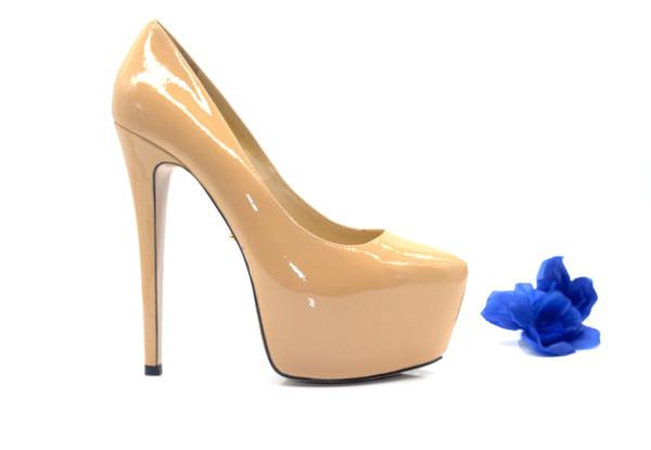 Best Heels - Beige Platform High Heel 16cm