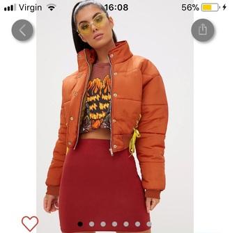 jacket burnt orange autumn/winter orange fashion