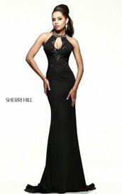 dress,long black evening gown,cheap beads prom dresses