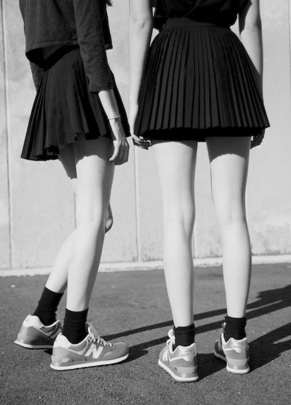 skirt back to school tennis pleated skirt sneakers new balance