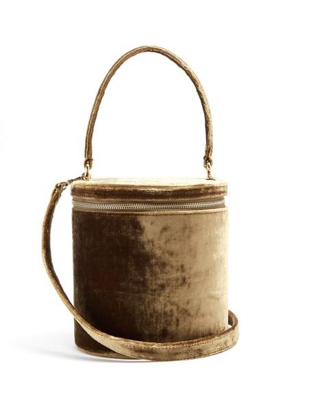Staud bag bucket bag velvet green
