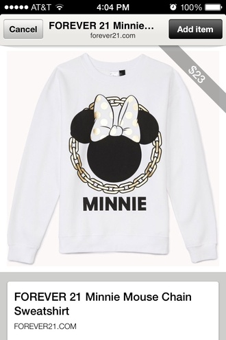 sweater minnie mouse forever 21 gold chain