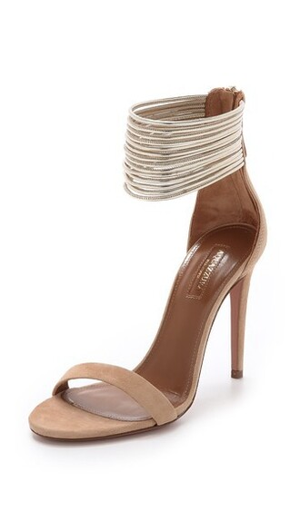 sandals gold nude shoes