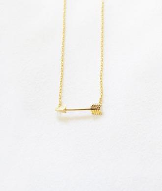 jewels gold gold necklace necklace arrow arrow jewelry