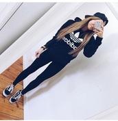 sweater,adidas,black,white,shirt,hoodie,adidas sweater,grunge,dark,cute,pastel,japan,light,goth,hipster,emo,90s style