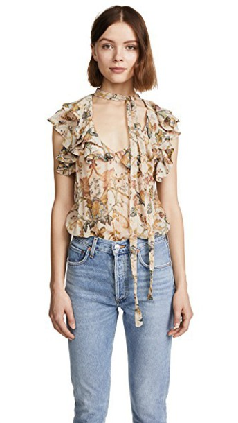 heart tapestry peach top