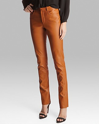 HALSTON HERITAGE Pants - Leather Skinny | Bloomingdale's