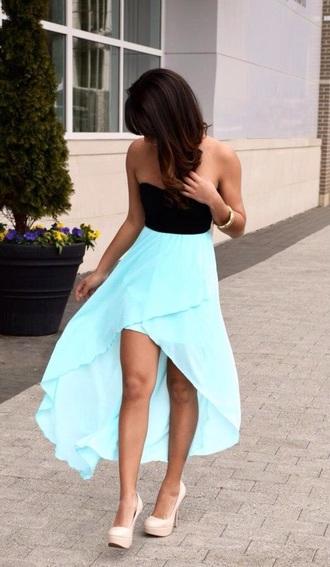 dress blue and black