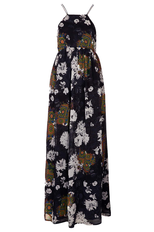 Folk print maxi dress