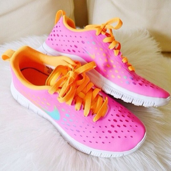 Nike Free 3.0 V4 Womens Dark Green Pink White