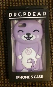 Drop dead iphone 5 rubber case purple