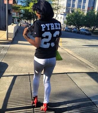 shirt pyrex black long shirt short sleeve
