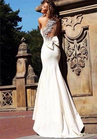 dress wedding dress wedding clothes mermaid wedding dresses backless white dress backless dress backless wedding dress white dress