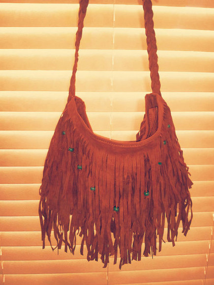 hippie boho bag bohemian indie summer ethnic brown purse