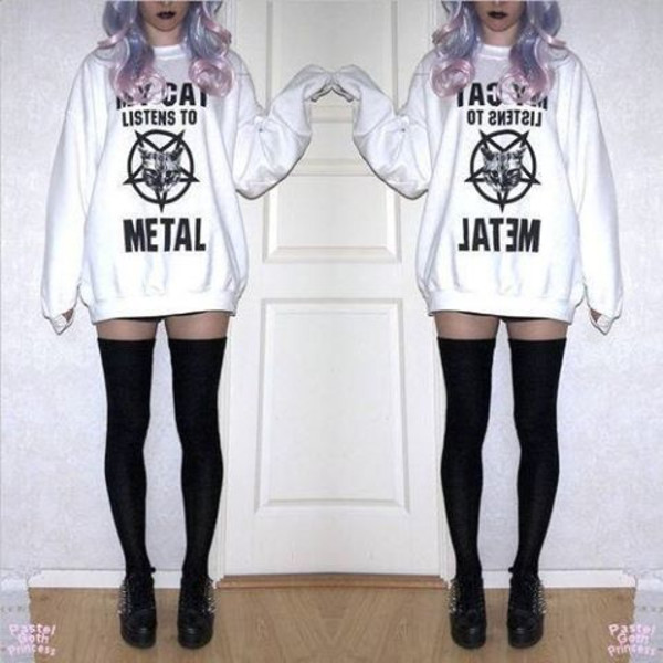 metal cats jumper sweater