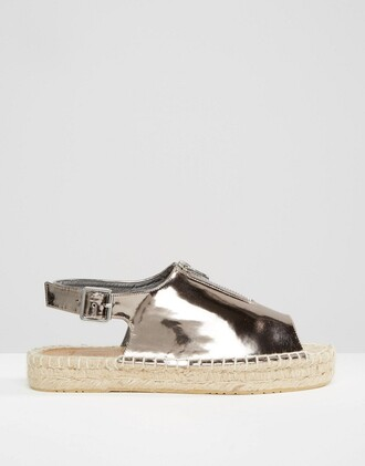 shoes silver shoes metallic shoes peep toe shoes platform shoes espadrilles