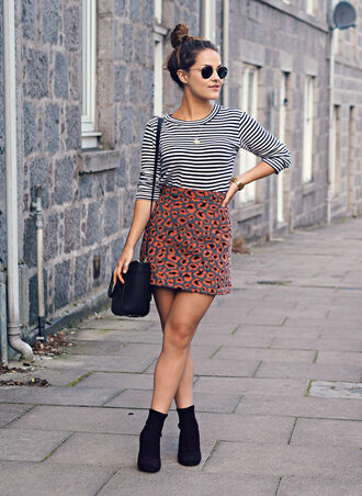 the little magpie blogger skirt top shoes