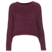sweater,burgundy,fluffy,cropped,cropped sweater