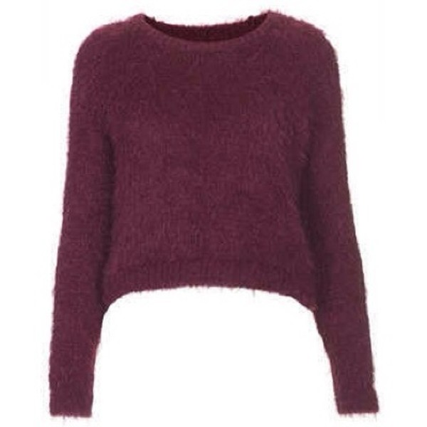 sweater burgundy fluffy cropped cropped sweater
