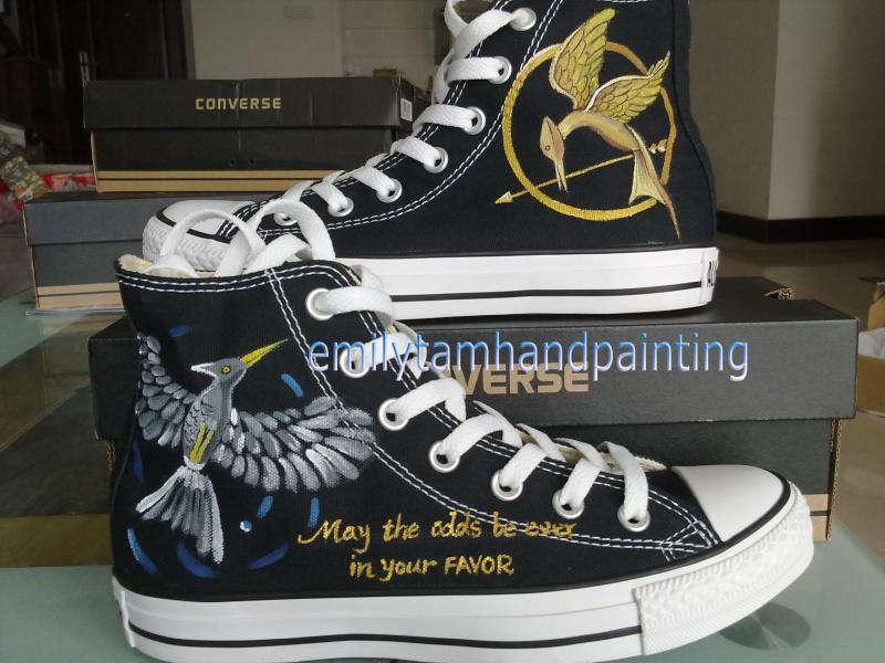 Mockingjay hunger game inspired hand painted by emilyhandpainting