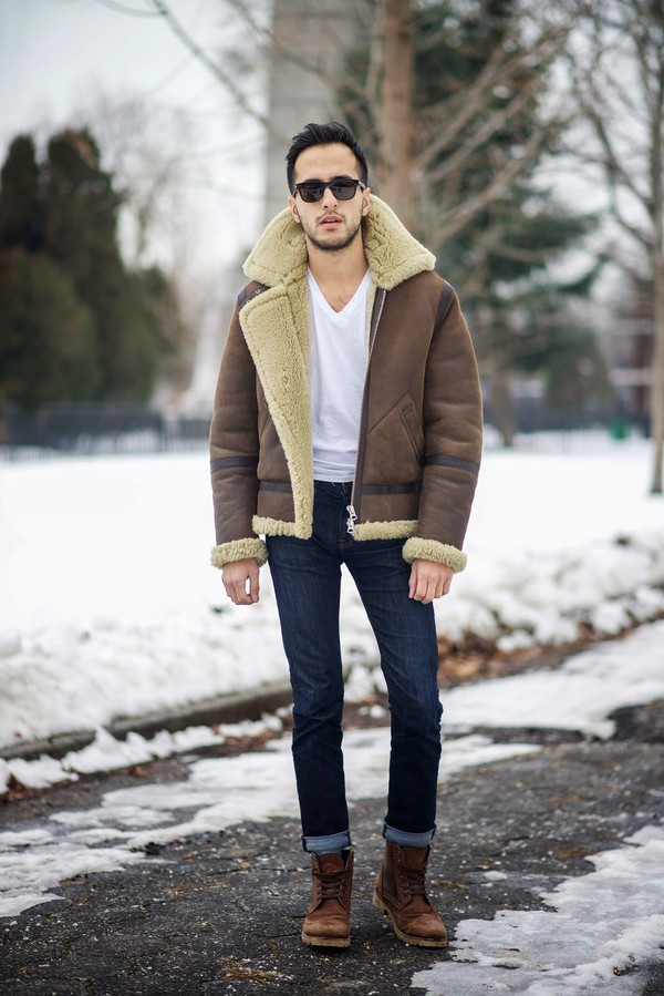 Acne Studios Ian Lambskin Amp Shearling Jacket At Barneys Com