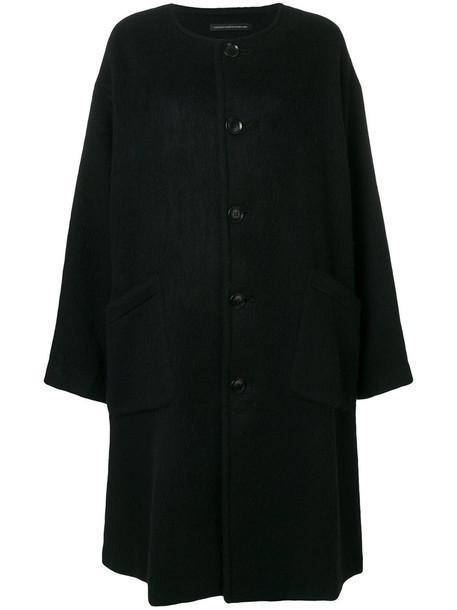 Y's coat women mohair black