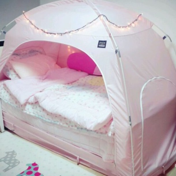 Home Accessory, Pink Tent, Tent, Pink, Cute, Home Accessory, Nude Pink  Home, Bedding, Bedroom, Tumblr Bedroom, Teen Bedrooms, Pillow, Sleeping Set    ...
