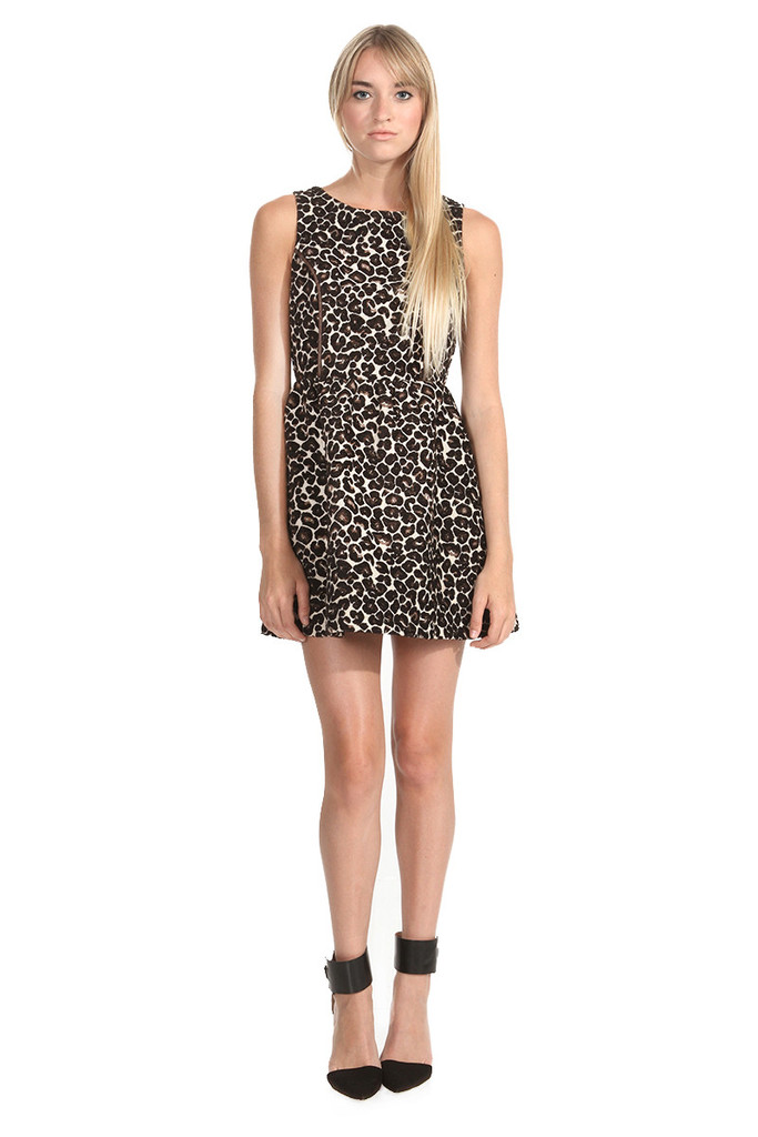 LEOPARD SKATER DRESS – THREE MODERN MUSES