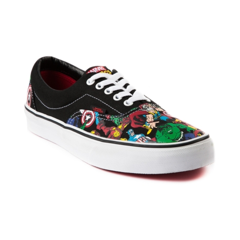 Vans Era Avengers Skate Shoe, Black White | Journeys Shoes