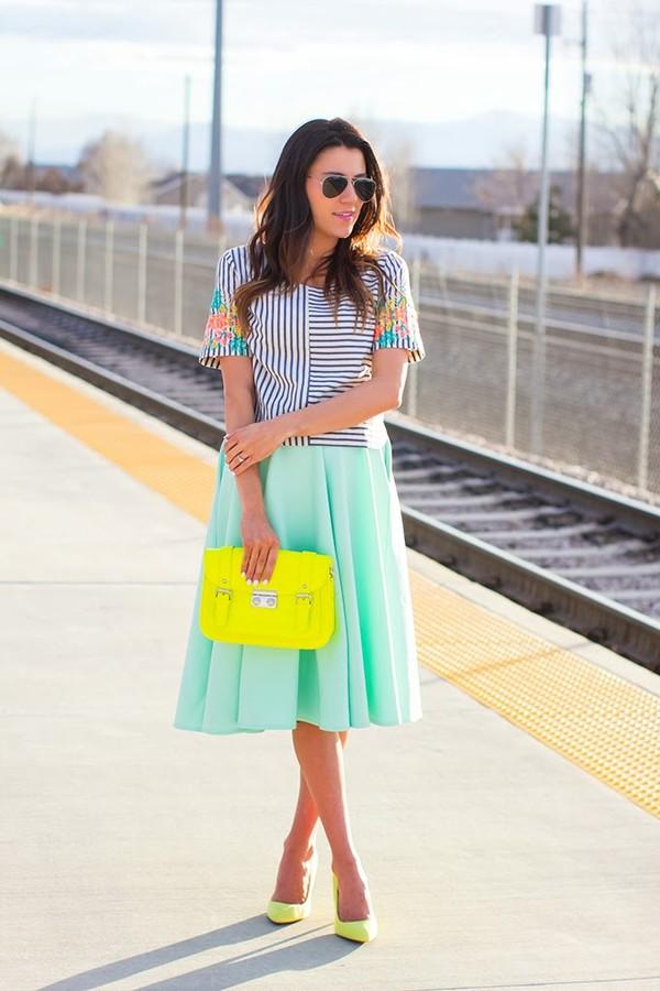 hello fashion t-shirt skirt bag shoes